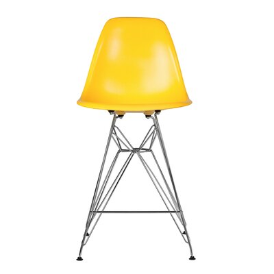 Hadsell Mid-Century 27.5 Bar Stool Color: Yellow