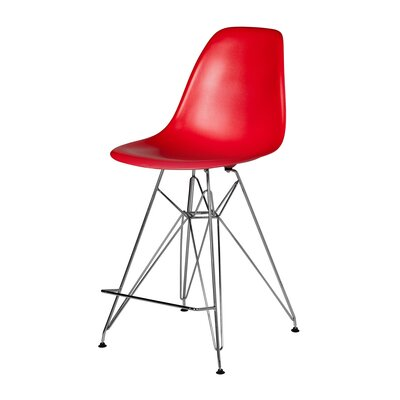 Hadsell Mid-Century 27.5 Bar Stool Color: Red