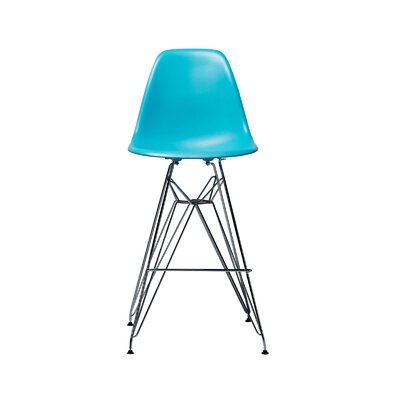 Hadsell Mid-Century 27.5 Bar Stool Color: Blue