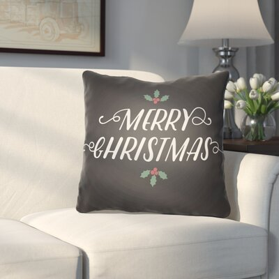 Morrell Merry Christmas Indoor/Outdoor Throw Pillow Size: 20 H x 20 W x 4 D, Color: Black