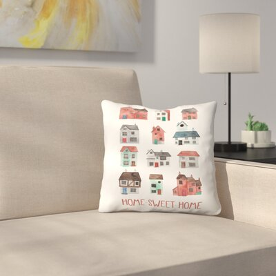 Elena ONeill Home Sweet Home Throw Pillow Size: 20 x 20