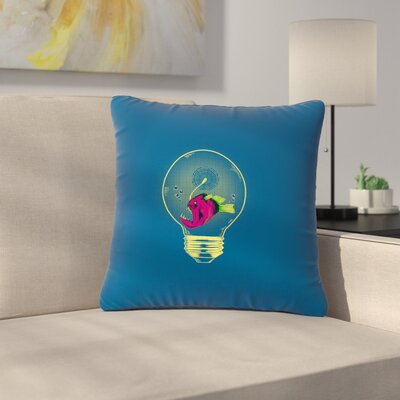 BarmalisiRTB Anglerfish Bulb Outdoor Throw Pillow Size: 18 H x 18 W x 5 D