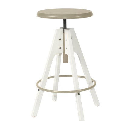 Ehlers Telford 30 Swivel Bar Stool Color: White