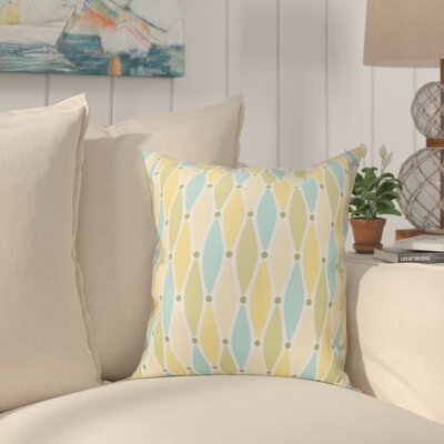 Boubacar Wavy Splash Geometric Print Outdoor Throw Pillow Size: 20 H x 20 W, Color: Yellow