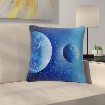 Infinite Spray Art Interplanetary Alignments Mixed Media Outdoor Throw Pillow Size: 18 H x 18 W x 5 D