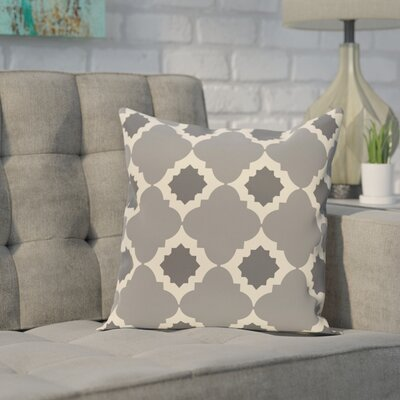 Pollard Geometric Print Throw Pillow Size: 26 H x 26 W, Color: Gray