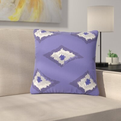 Alison Coxon Ikat Outdoor Throw Pillow Color: Lavender, Size: 18