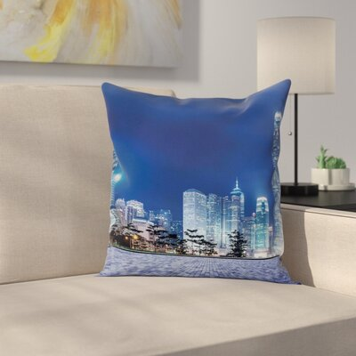 City Night Pillow Cover Size: 18 x 18