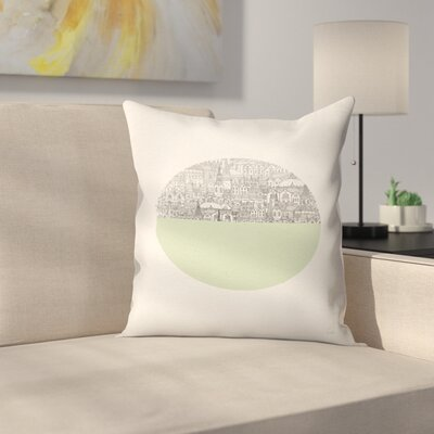 Circle Throw Pillow Size: 14 x 14