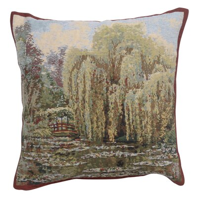 Cambra Bridge Monets Garden Cotton Pillow Cover