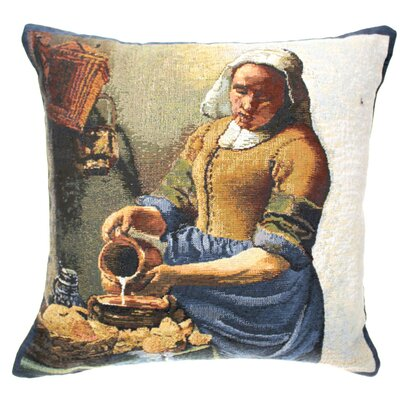 Hinderliter Servant Girl Cotton Pillow Cover