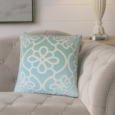 Adalric Geometric Cotton Throw Pillow Color: Sea Foam