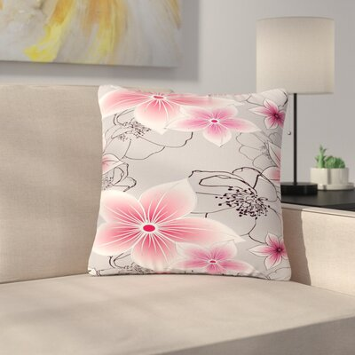 Alison Coxon And Floral Outdoor Throw Pillow Size: 18 H x 18 W x 5 D