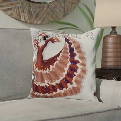 Drucker Throw Pillow Color: Orange, Size: 16 x 16