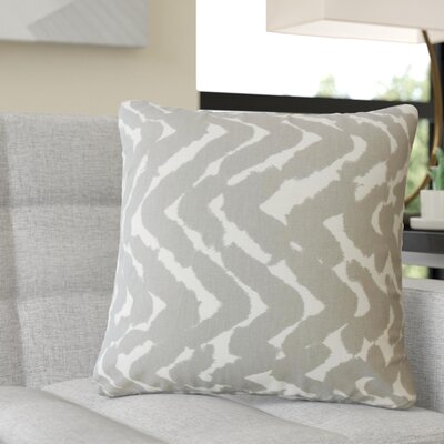 Rector Zigzag Cotton Throw Pillow Color: Gray