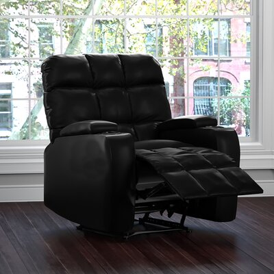 Dierks Manual Wall Hugger Recliner Upholstery: Black