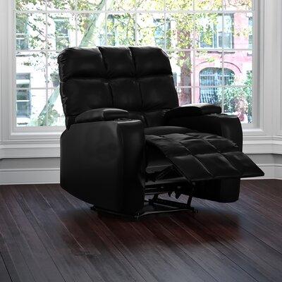 Dierking Power Wall Hugger Storage Recliner Upholstery: Black