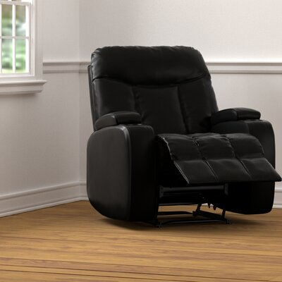 Toler Power Wall Hugger Storage Recliner Upholstery: Black