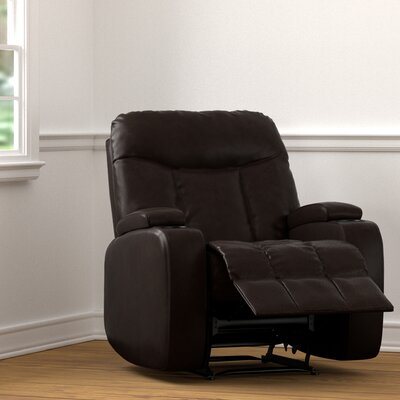 Toler Power Wall Hugger Storage Recliner Upholstery: Coffee Brown