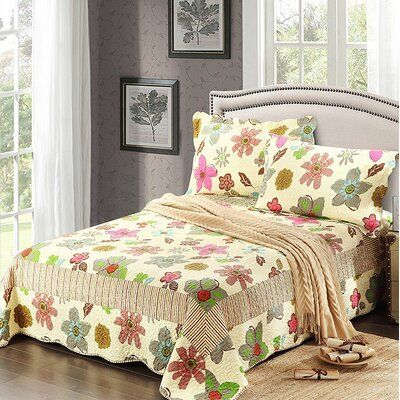 Colourful Rainbow Reversible Bedspread Set