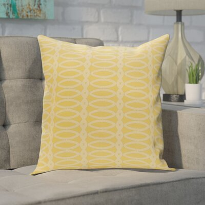 Giancarlo Geometric Decorative Outdoor Pillow Color: Lemon Soft Lemon, Size: 18 H x 18 W x 1 D