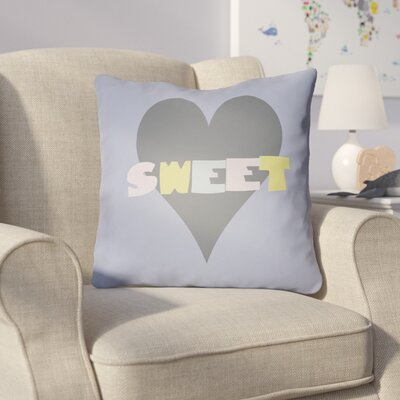 Colinda Sweet Throw Pillow Size: 20 H x 20 W x 4 D, Color: Dark Blue