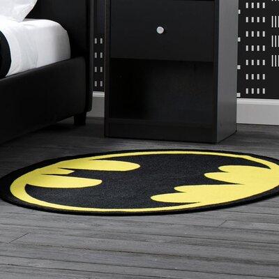 DC Comics Batman Soft Black/Yellow Area Rug