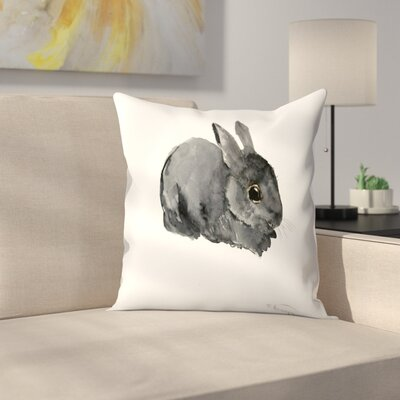 Bunny 4 Throw Pillow Size: 16