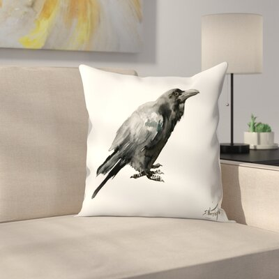 Suren Nersisyan Crow 3 Throw Pillow Size: 18 x 18
