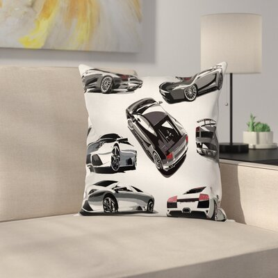 Modern Car Pillow Cover Size: 24
