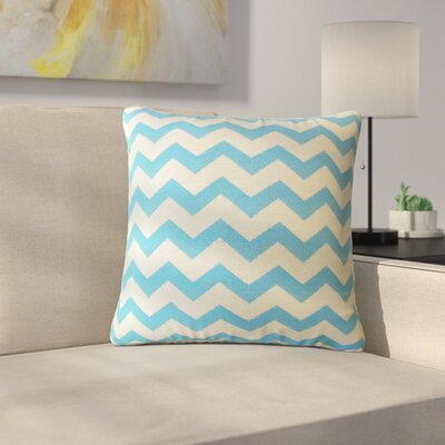Shevlin Chevron Down Filled Throw Pillow Size: 18 x 18, Color: Caribe