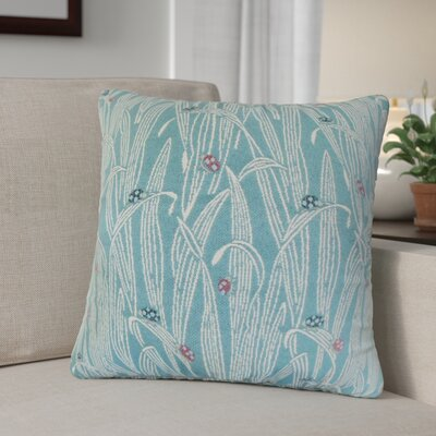Casazza Foliage Throw Pillow Color: Blue