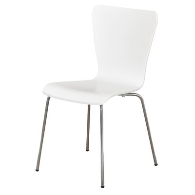 Osterman Jacey Dining Chair Color: White