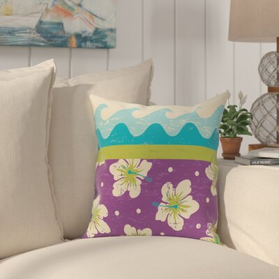 Golden Beach Floral Throw Pillow Size: 16 H x 16 W, Color: Light Green
