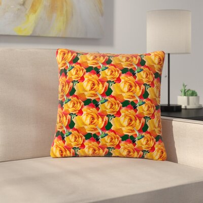 Shirlei Patricia Muniz Hummingbird Floral Outdoor Throw Pillow Size: 16 H x 16 W x 5 D