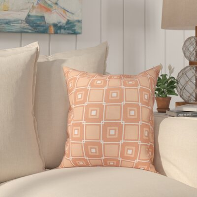 Cedarville Square Geometric Print Throw Pillow Size: 16 H x 16 W, Color: Coral