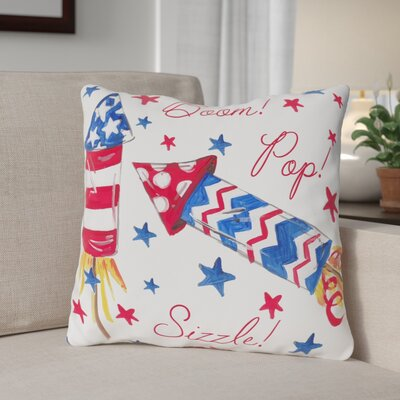 Boom Pop Sizzle Throw Pillow Size: 16 H x 16 W x 3 D