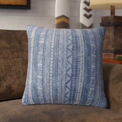 Couturier Throw Pillow with Zipper Color: Indigo, Size: 16 H x 16 W