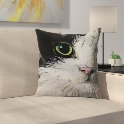 Michael Creese Tuxedo Cat Throw Pillow Size: 14 x 14