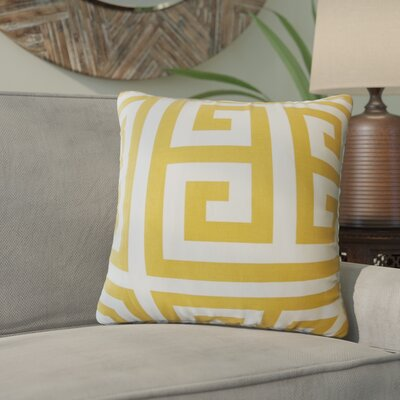 Unionville Geometric Down Filled 100% Cotton Throw Pillow Size: 18 x 18