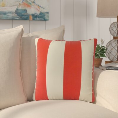 Lozier Striped Throw Pillow Color: Red