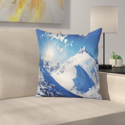 Sunrise at Mountain Square Pillow Cover Size: 24 x 24