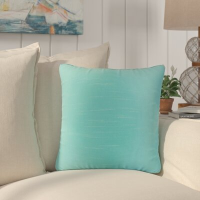 Popinac Solid Throw Pillow Color: Aquamarine