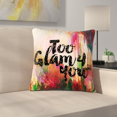 Ebi Emporium Too Glam 4 You-1 Magenta Outdoor Throw Pillow Size: 16 H x 16 W x 5 D