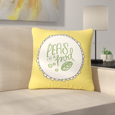 Busy Bree Peas in a Pod Outdoor Throw Pillow Size: 18 H x 18 W x 5 D