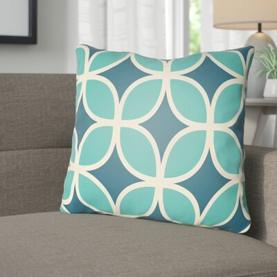 Wakefield I Throw Pillow Size: 18 H x 18 W x 4 D, Color: Blue