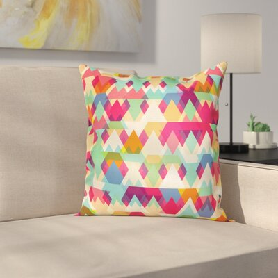 Triangles Artsy Square Cushion Pillow Cover Size: 24 x 24