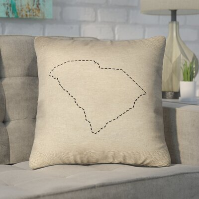 Sherilyn South Carolina Dash Outline Size: 16 x 16, Type: Throw Pillow