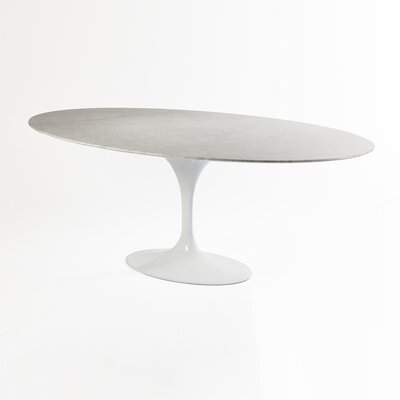 Marble Dining Table Size: 28.75 H x 67 W x 43 D