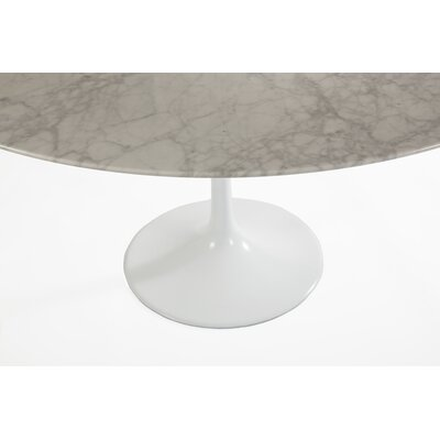 Marble Dining Table Size: 28.35 H x 60 W x 60 D